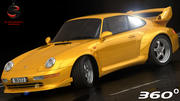 Porsche 911 GT2 1995 (niskie wnętrze) 3d model