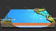 3D pacific coast terrain pacific pier atlantic coast land 3d model