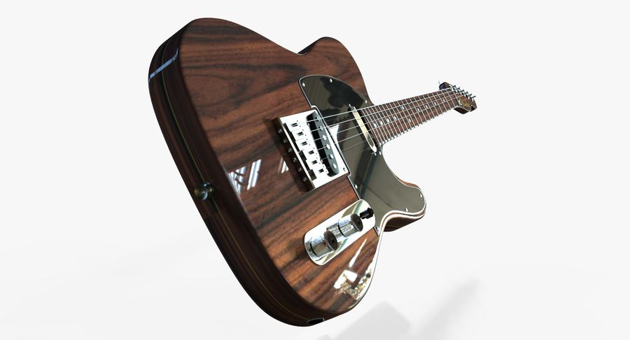 Fender Rosewood Telecaster royalty-free modelo 3d - Preview no. 8
