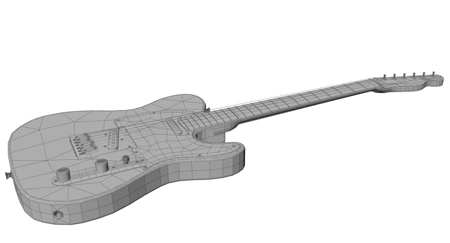 Fender Rosewood Telecaster royalty-free modelo 3d - Preview no. 9
