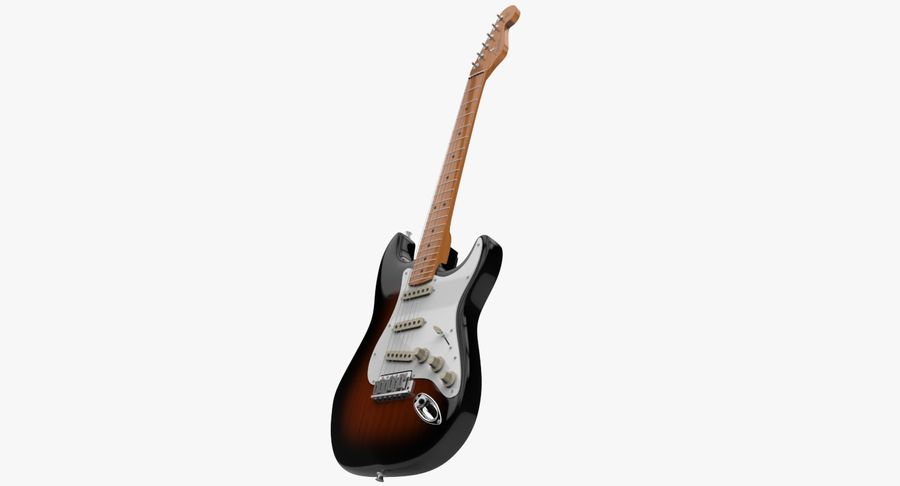 Fender Stratocaster royalty-free modelo 3d - Preview no. 2