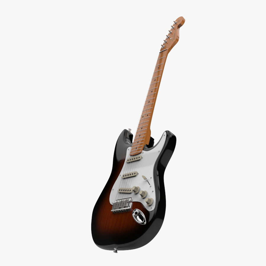 Fender Stratocaster royalty-free 3d model - Preview no. 1