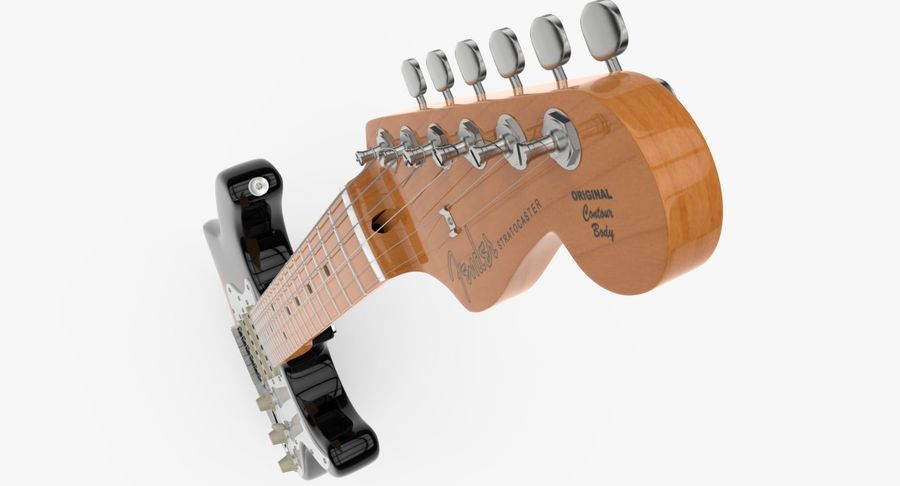 Fender Stratocaster royalty-free modelo 3d - Preview no. 5