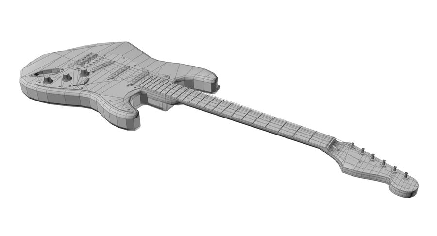 Fender Stratocaster royalty-free modelo 3d - Preview no. 9