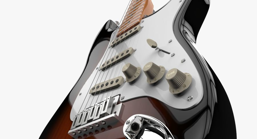 Fender Stratocaster royalty-free modelo 3d - Preview no. 4