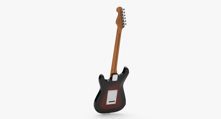 Fender Stratocaster royalty-free modelo 3d - Preview no. 8