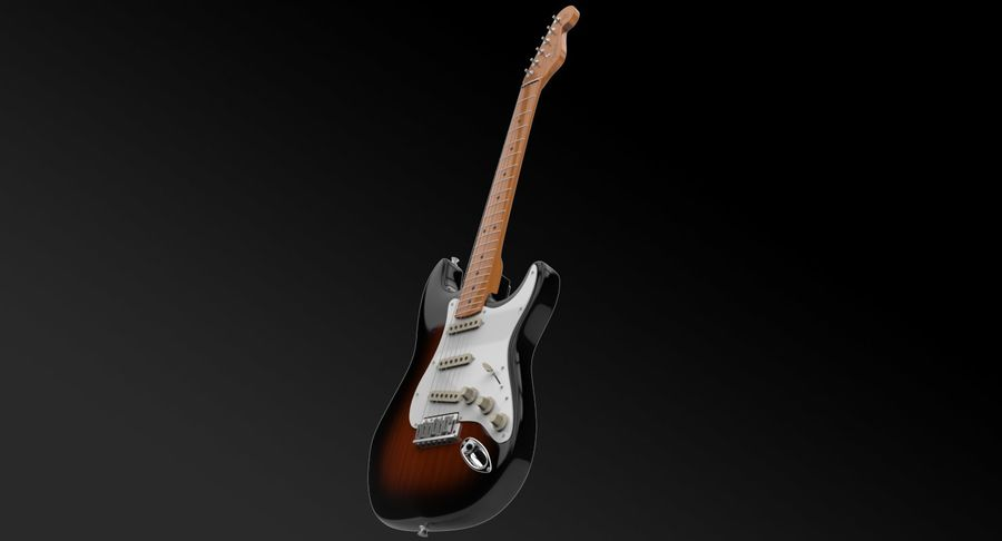 Fender Stratocaster royalty-free modelo 3d - Preview no. 3