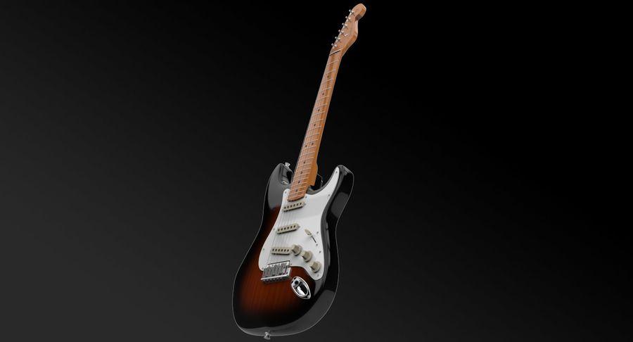 Çamurluk Stratocaster royalty-free 3d model - Preview no. 3