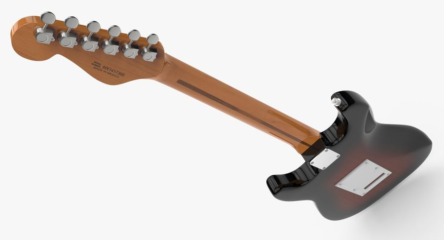 Fender Stratocaster royalty-free modelo 3d - Preview no. 7
