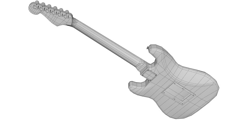 Fender Stratocaster royalty-free 3d model - Preview no. 10