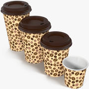 Coffee Cups Empty Takeout Design 4 3d model