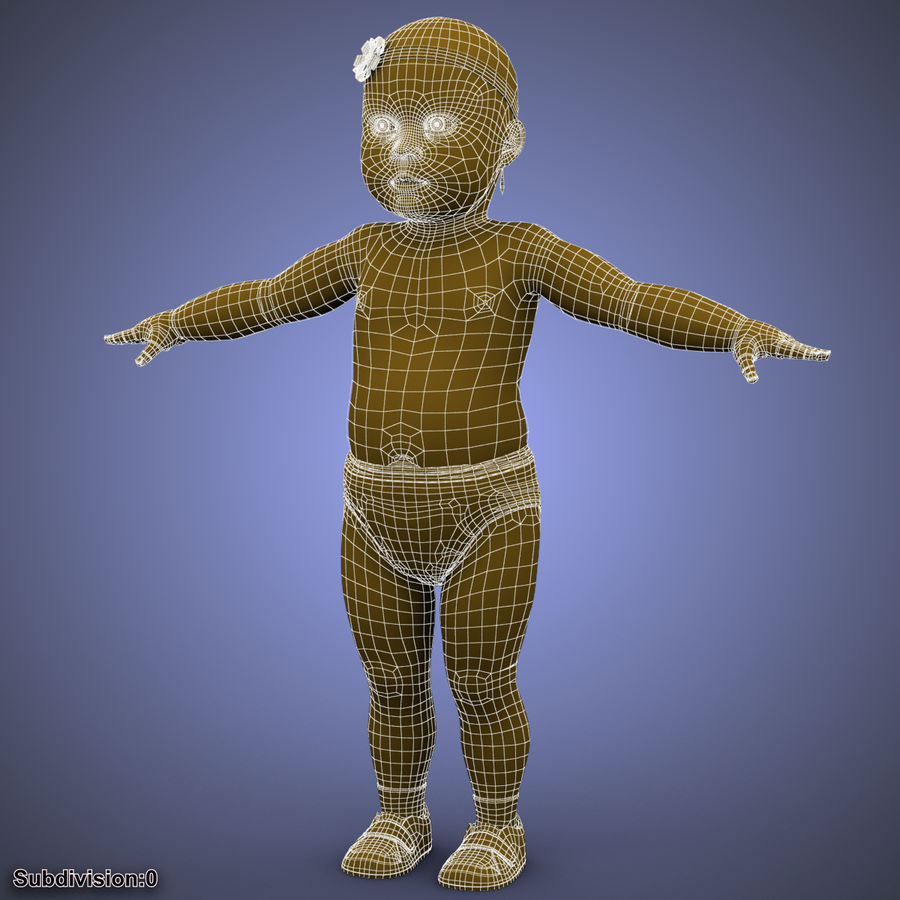 ребенок royalty-free 3d model - Preview no. 28