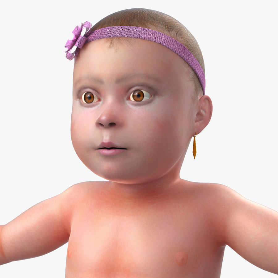 ребенок royalty-free 3d model - Preview no. 1