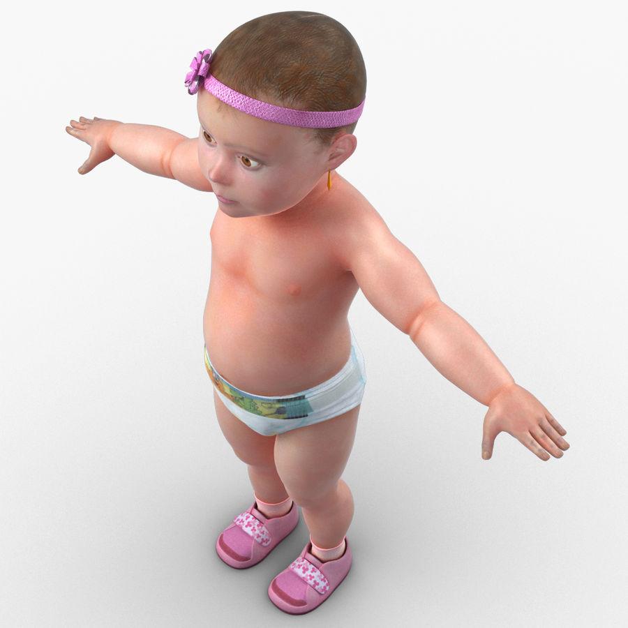 ребенок royalty-free 3d model - Preview no. 11