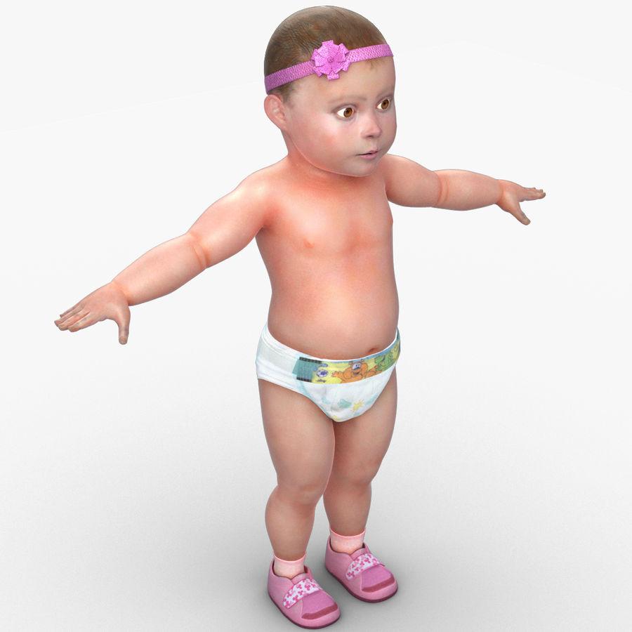 ребенок royalty-free 3d model - Preview no. 14