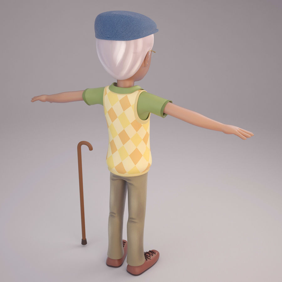 Velhote royalty-free 3d model - Preview no. 3