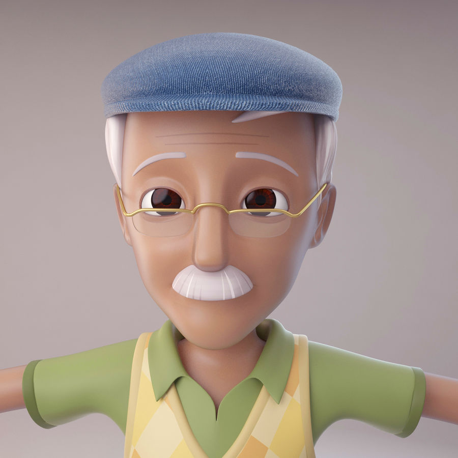 Velhote royalty-free 3d model - Preview no. 1