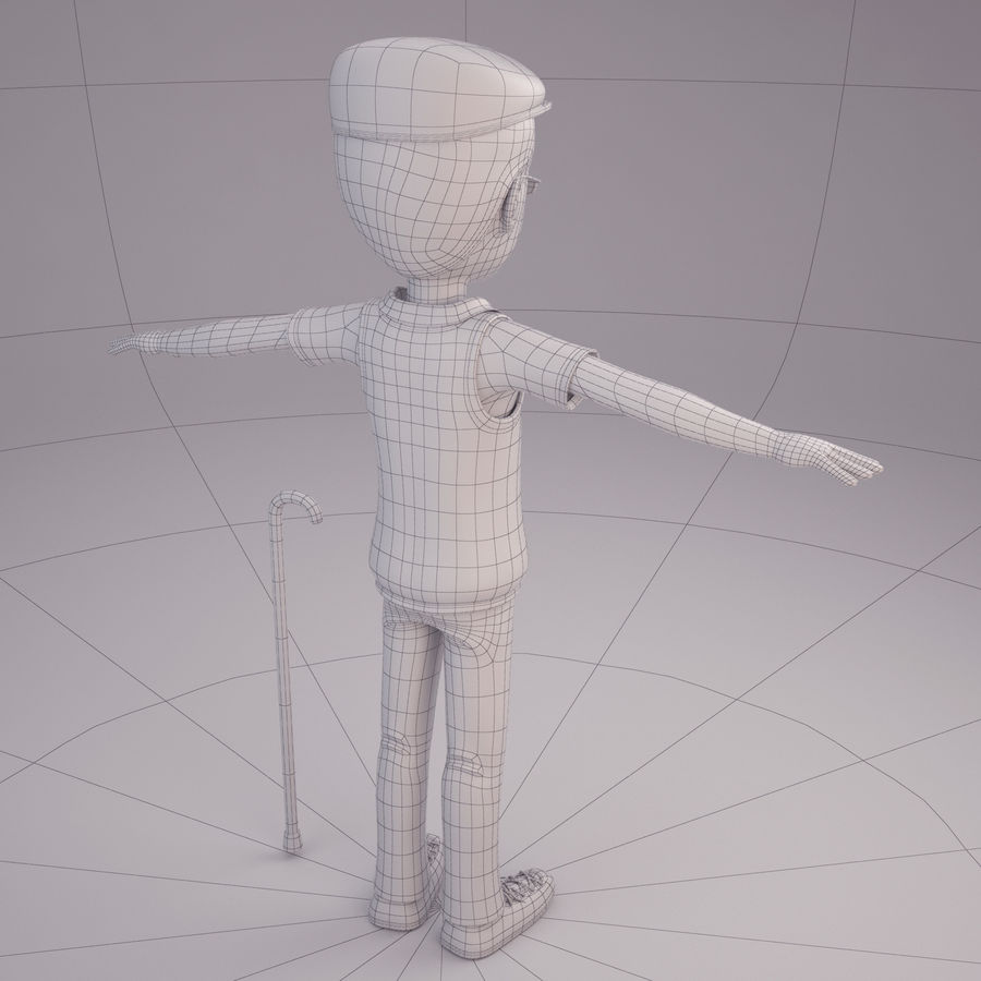 Velhote royalty-free 3d model - Preview no. 8