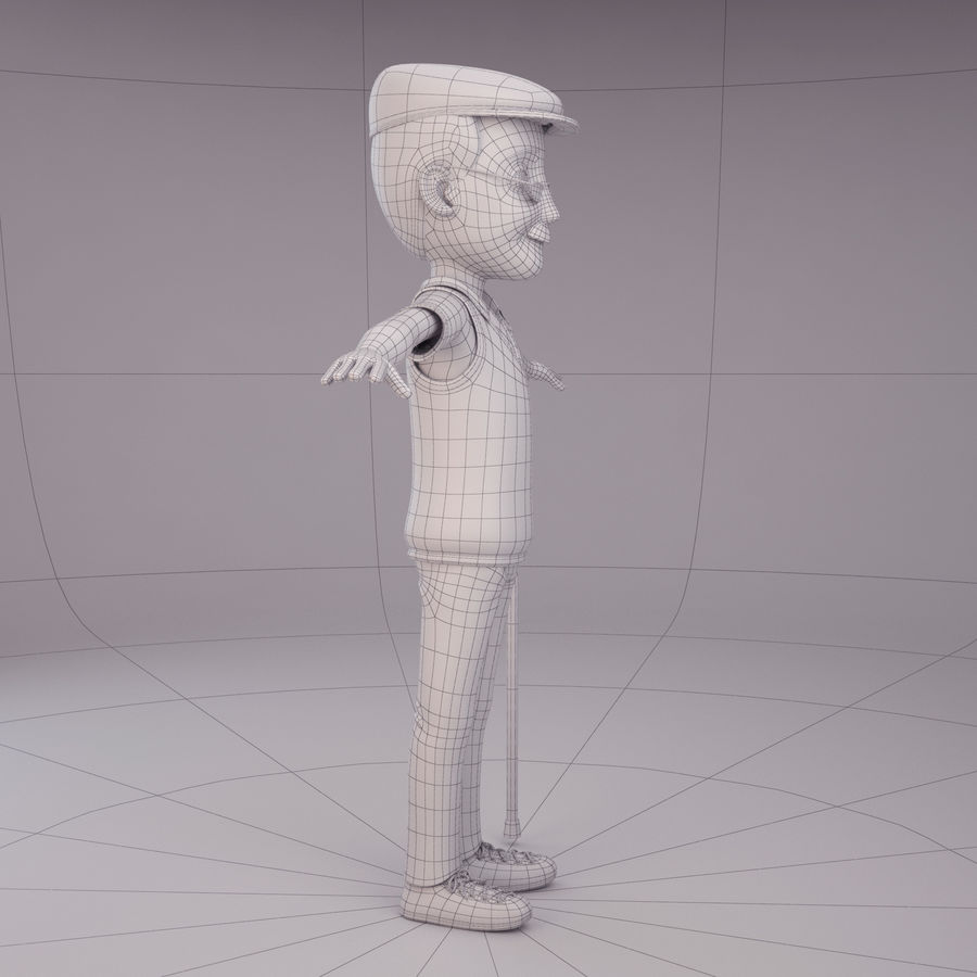 Velhote royalty-free 3d model - Preview no. 9
