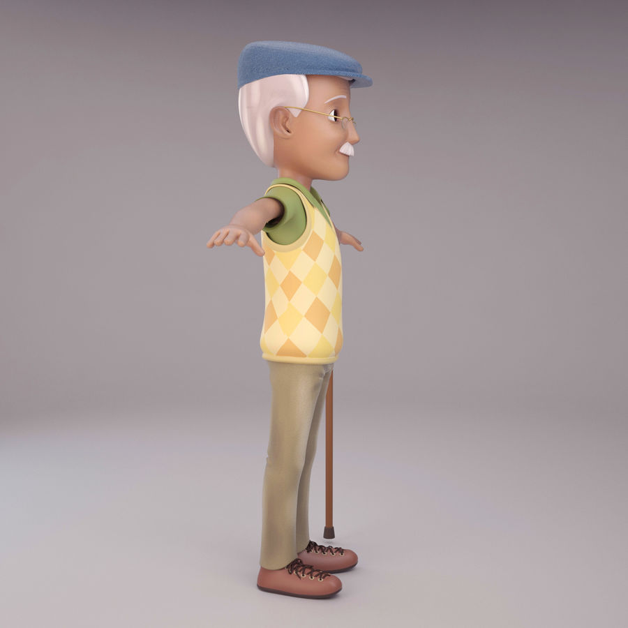 Velhote royalty-free 3d model - Preview no. 4