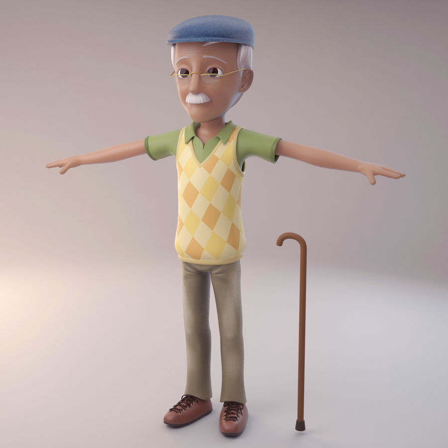 Velhote royalty-free 3d model - Preview no. 2