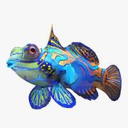 Mandalina balığı 3d model