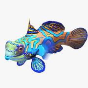 Mandarijnvissen zwemmen 3D-model 3d model
