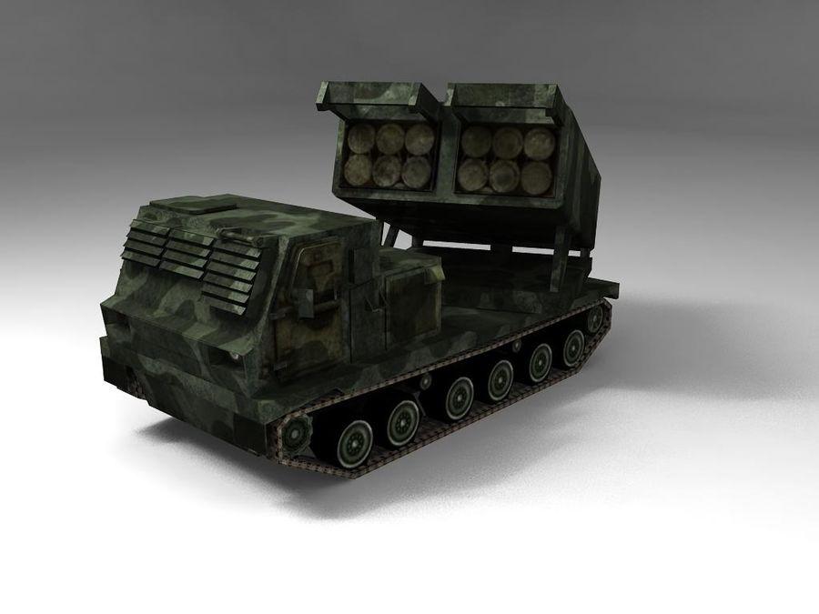Low Poly MLRS m270 royalty-free 3d model - Preview no. 2