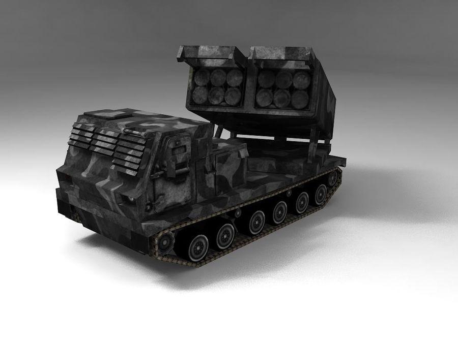 Low Poly MLRS m270 royalty-free 3d model - Preview no. 3