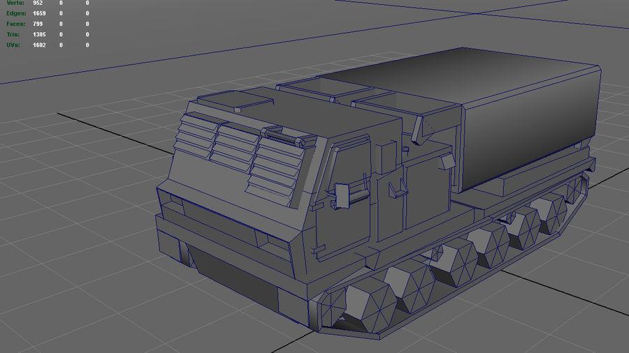 Low Poly MLRS m270 royalty-free 3d model - Preview no. 5