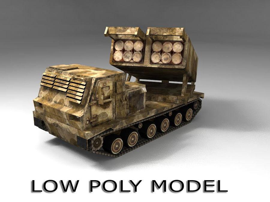 Low Poly MLRS m270 royalty-free 3d model - Preview no. 1