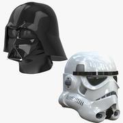 Vader & Stormtrooper Helmets 3d model