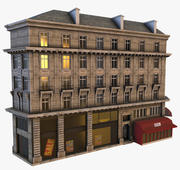 巴黎建筑PBR Low Poly 3d model