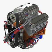 V8車のエンジン 3d model