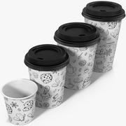 咖啡杯空外卖设计3 3d model