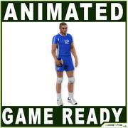 White Volleyball Player Realtime 3d model