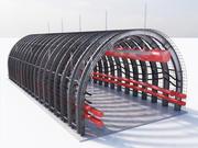 mine corridor tunnel 3d model