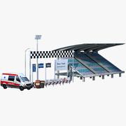 Race Track Assets Pack 3d model
