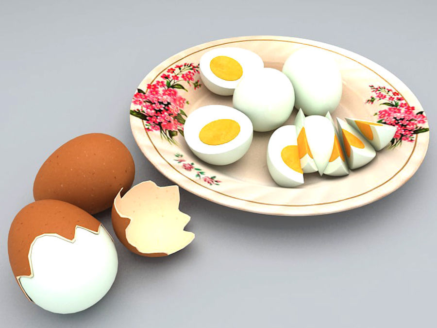 Boiled Egg royalty-free 3d model - Preview no. 1