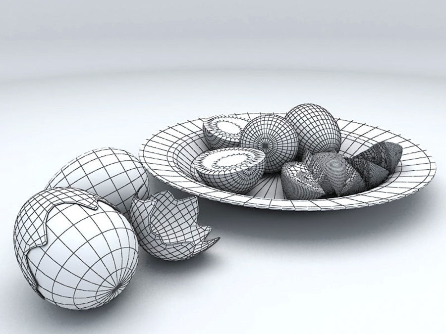 Boiled Egg royalty-free 3d model - Preview no. 5