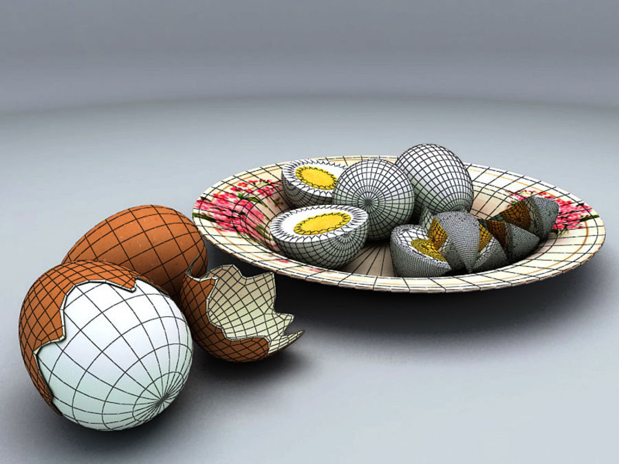 Boiled Egg royalty-free 3d model - Preview no. 6
