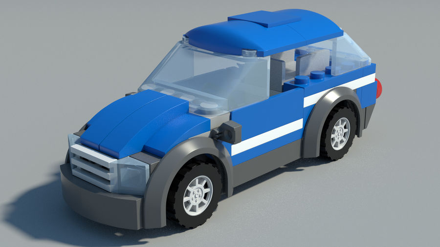 Detailed Lego Car royalty-free 3d model - Preview no. 10