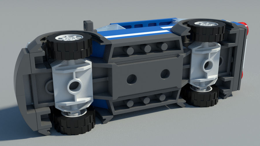 Detailed Lego Car royalty-free 3d model - Preview no. 6