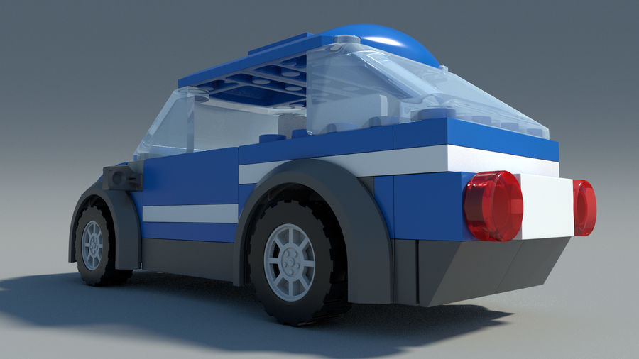 Detailed Lego Car royalty-free 3d model - Preview no. 4
