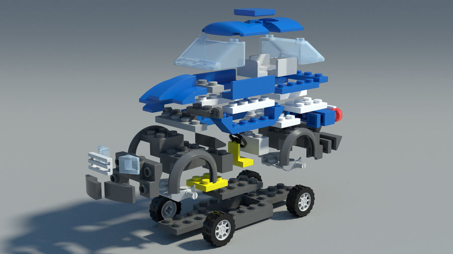 Detailed Lego Car royalty-free 3d model - Preview no. 1