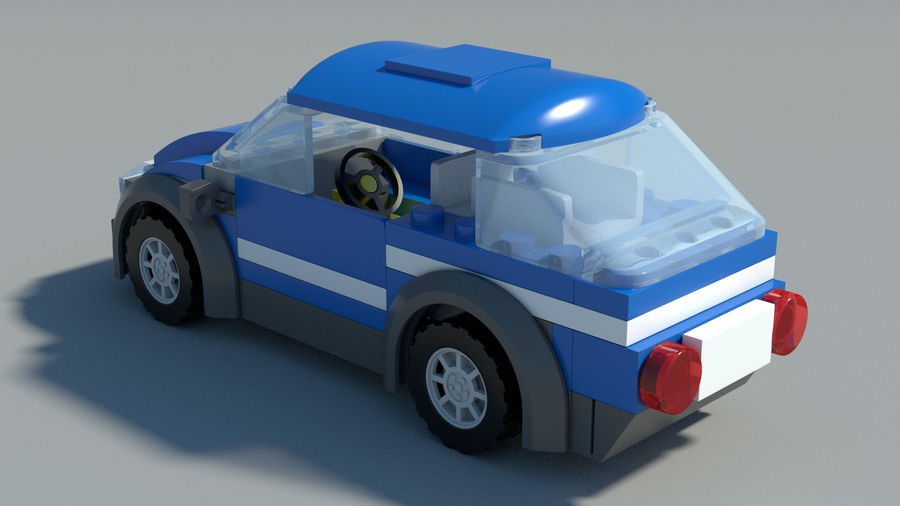 Detailed Lego Car royalty-free 3d model - Preview no. 9