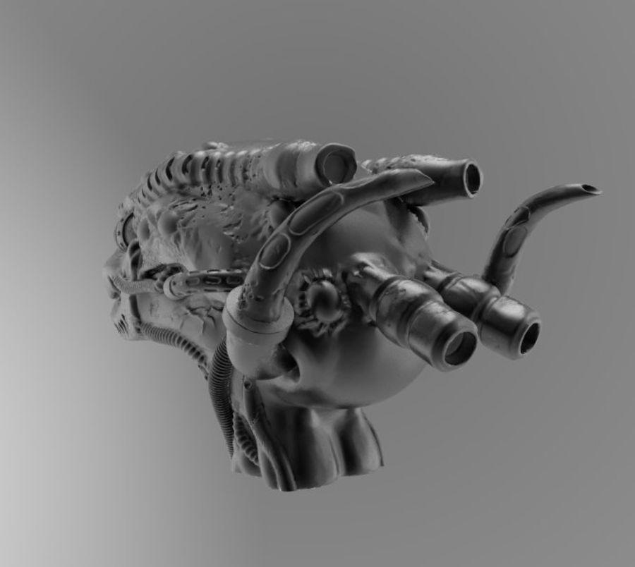 Alien head royalty-free 3d model - Preview no. 2