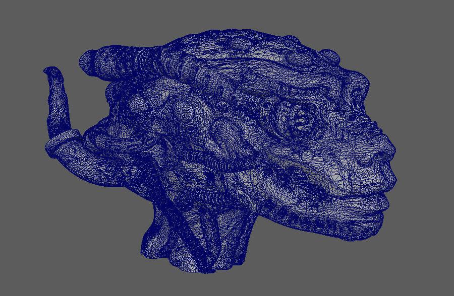 Alien head royalty-free 3d model - Preview no. 5