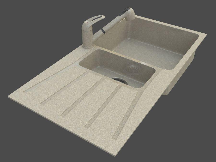 Évier avec robinet royalty-free 3d model - Preview no. 1