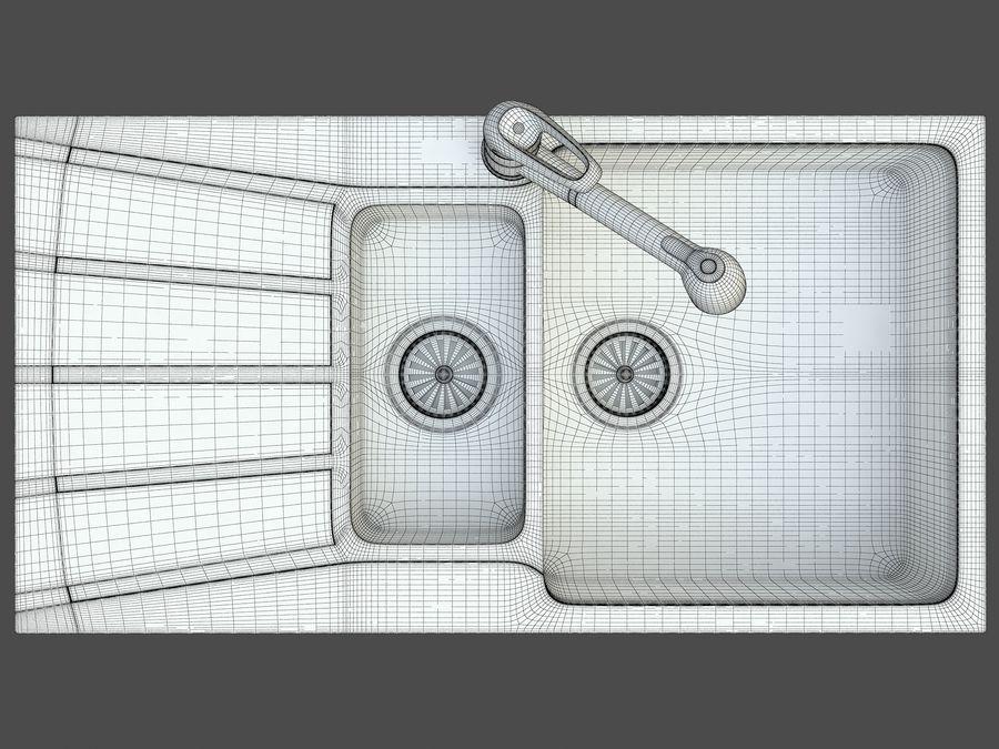 Évier avec robinet royalty-free 3d model - Preview no. 10